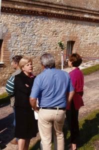 Le Président Dominique FLABOT en conversation avec Catherine VAUTRIN