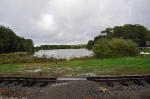 Le lac de Rillé vu du petit train