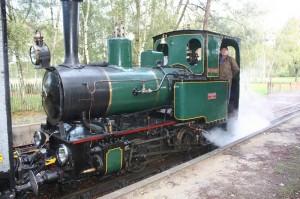 """Train touristique de Rillé la locomotive """"La Touraine"""""""