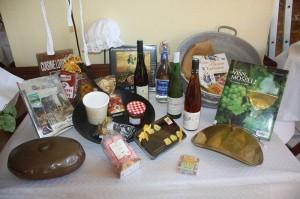 L'accueil avec les produits régionaux