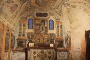 Peintures restaurées dans la chapelle St Hubert
