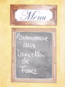 Menus du restaurant adapté pour l'occasion