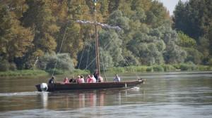 En baeau sur la Loire