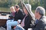 Le groupe en bateau sur la Loire