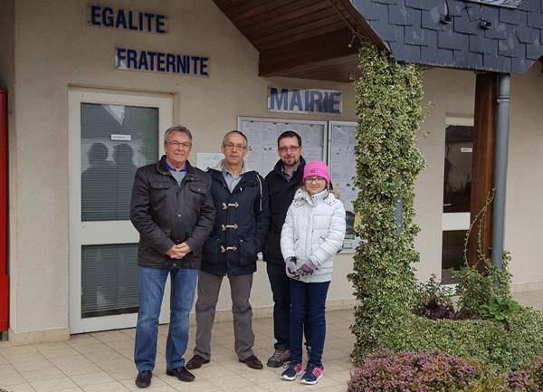 Visite de Francis Bélanger, Maire de Courcelles au Québec, le 17/11/2017